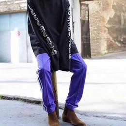 2716b5014fa Luxe Européenne Rétro Droite Pantalon Hommes et Femmes CouplesLoose Sauvage  Sport Marée Pantalon Pantalon Pantalon Côté Ouvert Zipper HFWPKZ046