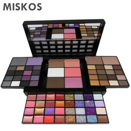 Glitter 36 Colors UK - MISKOS Makeup Set 74 Colors Combination 36 Colors Eyeshowed Lipstick Glitter Creams Concealers Blushers Contour Makeup Kit