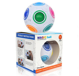 Football Games For Kids Australia - Rainbow Ball Magic Cube Speed Football Fun Creative Spherical Puzzles Kids Educational Learning Toy game for Children Adult Gifts