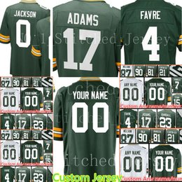 9dfe3514c custom Green Bays Men s Jersey Packer 0 Josh Jackson 90 BJ Raji 4 Brett  Favre 23 Damarious Randall 15 Bart Starr 81 Andrew Quarless Jerseys