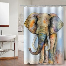 $enCountryForm.capitalKeyWord Canada - Abstract Color Elephant Fashion Home Bathroom Decoration Waterproof Polyester Fabric Bathroom Shower Curtain With 12 Hooks