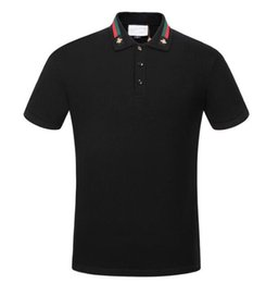 Discount luxury microfiber - 2018 Italy designer polo shirt t shirts Luxury Brand snake bee floral embroidery mens polos High street fashion stripe p