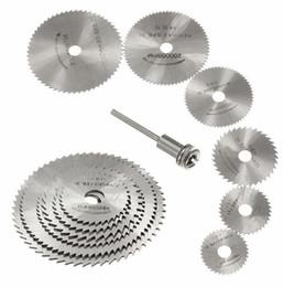 7pcs Mini HSS hoja de sierra circular herramienta rotativa para Dremel Metal Cutter Power Tool Set Discos de corte de madera Taladro herramienta para trabajar la madera en venta