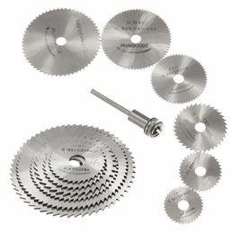 7pcs Mini HSS hoja de sierra circular herramienta rotativa para Dremel Metal Cutter Power Tool Set Discos de corte de madera Taladro herramienta para trabajar la madera