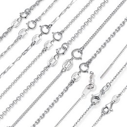 $enCountryForm.capitalKeyWord Australia - Classic Basic Chain Lowest Price 925 Sterling Silver Box Chain Necklaces Lobster Clasp Adjustable Necklace Chain Fashion Jewelry