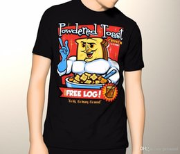 ToasT cloThes online shopping - 2018 Summer Casual Man T Shirt Ren and Stimpy Shirt Powdered Toast Crunch with Free LOG Anime Casual Clothing