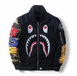 BAPE Adidas Supreme 2017 otoño y nueva chaqueta de tiburón traje de béisbol de Europa y América vendiendo caliente en venta
