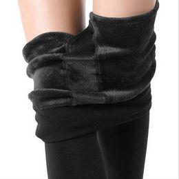 $enCountryForm.capitalKeyWord NZ - 8 Colors Winter Leggings Women Warm Thick Leggings High Waist Velvet Legging Solid Stretch Leggings Women