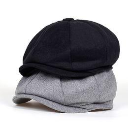 2018 new Brand Beret Men Women Wool THats Newsboy Caps Gatsby Octagonal Cap  wool Vintage British hat Accessories 1c05c2691e10