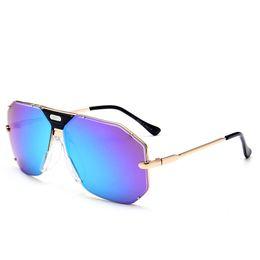 1792f233b0b Men Popular Sunglasses New Full Frame Pilot Glasses Famous Sunglasses Brand  Designer Luxury Metal Sunglasses 100% Anti-UV Summer Eyewear