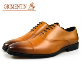 hot formal shoes NZ - GRIMENTIN Hot Sale Italian Fashion Brand Mens Dress Shoes High Quality Genuine Leather Men Oxford Shoes Formal Business Wedding Male Shoes