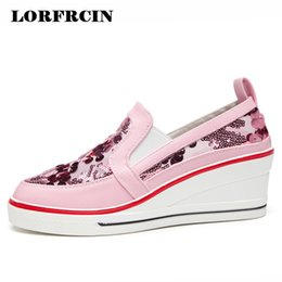 Summer Style Women s Shoes Platform Wedges Sneakers For Ladies Fashion  Bling High Heels Sandals Breathable Casual Shoes Woman 83df83126381