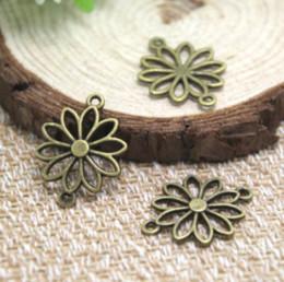 Antique filigree pendAnt online shopping - 30pcs Flower charms Antique Bronze Filigree Flowers Charm Pendant connector x19mm
