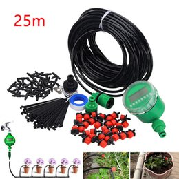 Drip System Hose NZ - 25M 10M Hose Kits Connector Adjustable Drip Micro Drip Irrigation Kit Plants Garden Watering System Automatic Garden