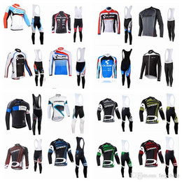 Discount orbea bike cycling long - CUBE ORBEA team Cycling long Sleeves jersey bib pants sets Wholesale price men's Quick Drying bike clothing with bi