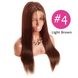 dark brown lace closure color Canada - 130%150%180%Density 360 Lace Frontal Closure #2#4 light dark browm color Straight Brazilian Baby Hair Pre Plucked Natural Hairline 10-22
