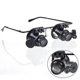 Loupe Wholesalers Australia - 20x Magnifier Magnifying Glasses Loupe Lens Loupe Jeweler Watch Repair LED Light