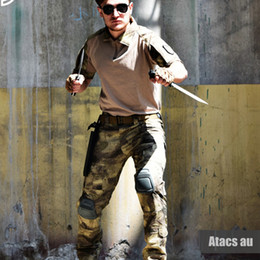$enCountryForm.capitalKeyWord Australia - Summer Camouflage Uniform US Army Combat Suits Mens Short Sleeve Multicam Paintball T Shirt + Pants