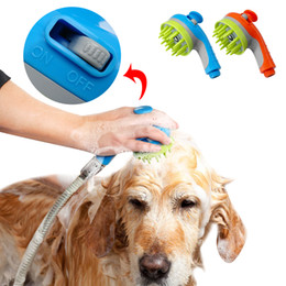 pet massager NZ - Pet Shower Head Sprayer With Shampoo Bath Brush Massager Dog Cat Washer Nozzle