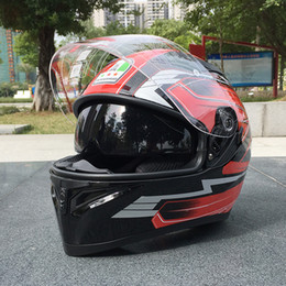 free full face helmets Canada - Free Shipping Motorcycle Helmet Malushun ABS resin motorcycle full face helmet, stylish dual-lens racing helmet,Casque De Moto