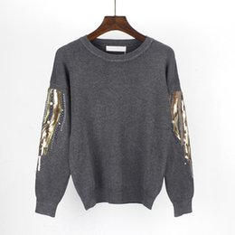 Sequin Jumper Women S UK - ONLYSTAR Plus Size S-3XL Embroidery Knitted Pullover  Sweater d9e486e25