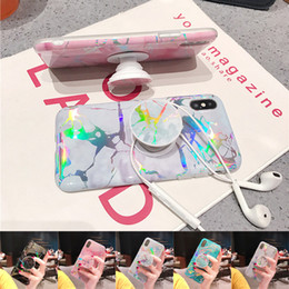 $enCountryForm.capitalKeyWord NZ - Bling Laser Shining Marble Iridescent Holographic Holo Soft TPU Grip Stand Case For iPhone X 8 7 6 6S Samsung S8 S9 Plus Note 9 Note9