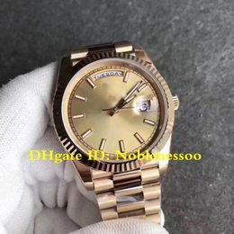 limited edition luxury watch 2019 - Luxury Men's 40mm Day-Date 228238 Yellow Gold Champagne Stick Dial Cal.3255 Watch Automatic Movement Mens Watches c