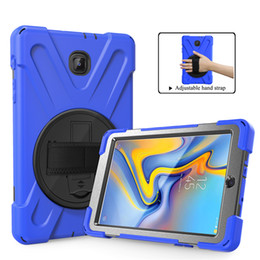 Samsung Tab 9.6 Case NZ - Military Extreme Heavy Duty Shockproof silicone pc CASE With Stand For Samsung Galaxy Tab A 8.0 SM-T387 T387 2018