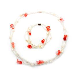 $enCountryForm.capitalKeyWord UK - Fashion natural freshwater pearl jewelry magnetic buckle crystal necklace and bracelet set wholesale