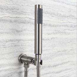 $enCountryForm.capitalKeyWord NZ - Shower Kit Stainless Steel Handheld Round Shower Adjustable Valve Holder 1.5 Stainless Steel Hose Wall Mounted