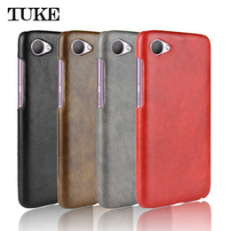 e28c041778b1a7 TUKE For HTC Desire 12 Case Luxury Litchi Pattern PU Leather Hard Back  Cover Shockproof Case For HTC 12 D12 5.5 inch Phone Skin