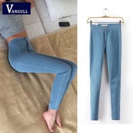 $enCountryForm.capitalKeyWord Australia - Fashion Women Jeans 2018 New Spring and Autumn Print Ripped Washed Slim Jeans Vintage Elastic Painted Denim Trousers Pants