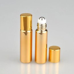 $enCountryForm.capitalKeyWord Australia - 2018 New 5ml Gold Silver Glass Essential Oil Roller Bottles Metal Roller Balls Roll Deodorant Containers Glass Roll On Bottles 5ml Wholesale
