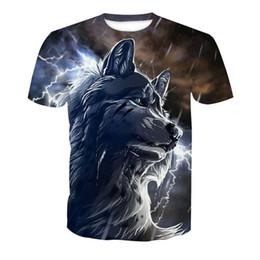 ec8e8dac69d2 Rain Wolf Gothic Animal T shirt Men Casual Streetwear Flash 3D Wolf Printed  t-shirts Mens Novelty Harajuku Tees Short Sleeve Top