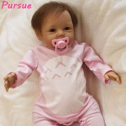 "$enCountryForm.capitalKeyWord Australia - Newborn Reborn Babies toys Soft Silicone Vinyl Body Handmade Mohair hair 22"" like Bebe Good Toys for Birthday presents Education"