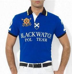 Men S Big Watch Australia - Hot Selling Men's Clothing Polo Shirts Big Horse Tops Tees Black Watch Print Male Summer Short Sleeved Polo shirt Brand Men Polos