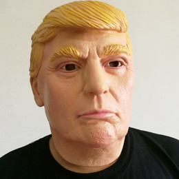 Celebrity Party Decorations Australia - U.S. President Donald Trump Celebrity Face Star Parody Party Decoration Latex Mask Billionaire Men and Women Masks