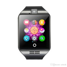 Bluetooth Smart Watch Sim Australia - Q18 Passometer Smart Watch with Touch Screen Camera Support Mcrio Sim TF Card Bluetooth Smartwatch for Android I-OS Phone
