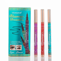 professional eye pencils NZ - YANQINA Bloomung & Dreamer Eyeliner Pen Waterproof Long-lasting Black Eye Liner Professional Eyes Makeup Pencil for Blue Eyes