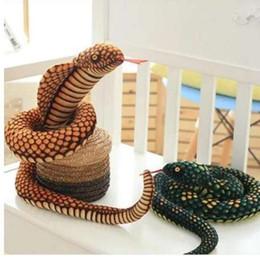 $enCountryForm.capitalKeyWord NZ - The snake plush toy big pillow doll Zodiaca Simulation snake Cobra Python pattern props Special gifts for children 100CM