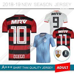 b5589ec9b71 Diego Shirts Canada - 2019 Flamengo soccer jersey 18 19 Flamengo home away  white 3rd blue