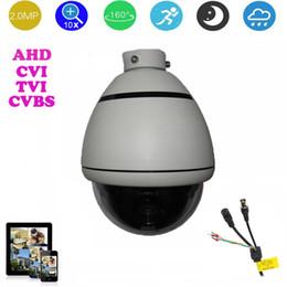 Cámara AHD / CVI / TVI / CVBS HD PTZ de 3.5 pulgadas Cámara domo de velocidad media Cámara 2.0MP 10x Zoom automático cámara de seguridad para exteriores Sin visión nocturna en venta