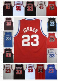 Chinese  College Men's #23 45 Michael J jerseys 33 Scottie Pippen 91 Dennis Rodman Zach LaVine Chicago Running Jerseys Embroidery Stitched On Sale manufacturers