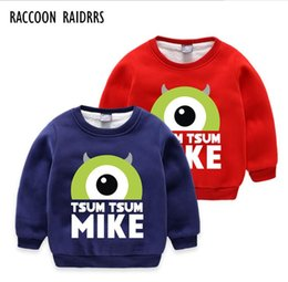 baby clothes factories UK - FF+2018 new cartoon design children's winter wear plus velvet sweater baby boy's warm clothes factory price direct selling