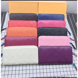 23176eb37b02a Mens Wallet Designer Luxus Handtaschen Geldbeutel Damen Clutch Bag Classic  Lange Brieftasche Bunte Karte Paket Original Box Zipper Bag 60017