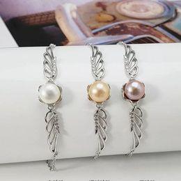 1 pc zircão sólido pulseira de prata esterlina configuração, montagem de pulseira de asa de ângulo, pulseira em branco sem pérola, jóias DIY, presente DIY venda por atacado