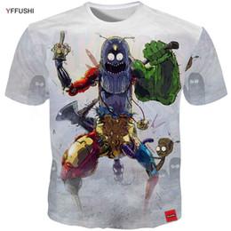 961b1ceec YFFUSHI 2018 Funny Design 3d t shirt Men Hot Sale Iron Men Tees Cartoon  Spider Thor Print T shirts Plus Size