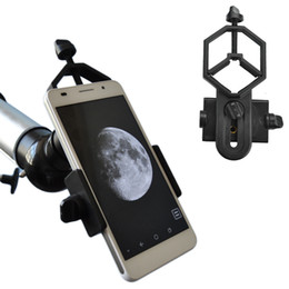 Chinese  Universal Microscope Telescope Stand Adapter For Iphone 7 6S SE Samsung Galaxy S8 S7 Edge xiaomi Alloy Smartphone Phone holder manufacturers