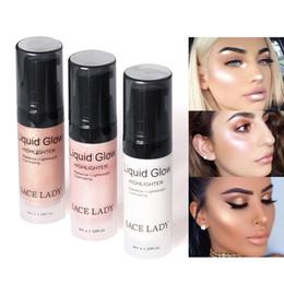 Face Glow Cream NZ - Hot Sale Face Highlighter Cream Liquid Illuminator Makeup Shimmer Glow Kit Make Up Facial Brighten Shine Brand Cosmetic 11.11 Sales