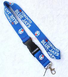 Varejo Novo Colhedor de futebol para Tornoto Blue Jays Chaves EUA Sport ID Badge Titulares Para Telefones Pescoço Cinta Chaveiros azul